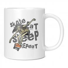EAT SLEEP SKATE REPEAT 11OZ NOVELTY MUG