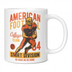 AMERICAN FOOTBALL COLLEGE TEAM SPORT DIVISION 11OZ NOVELTY MUG
