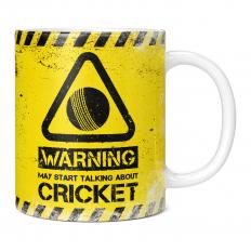 WARNING MAY START TALKING ABOUT CRICKET 11OZ NOVELTY MUG