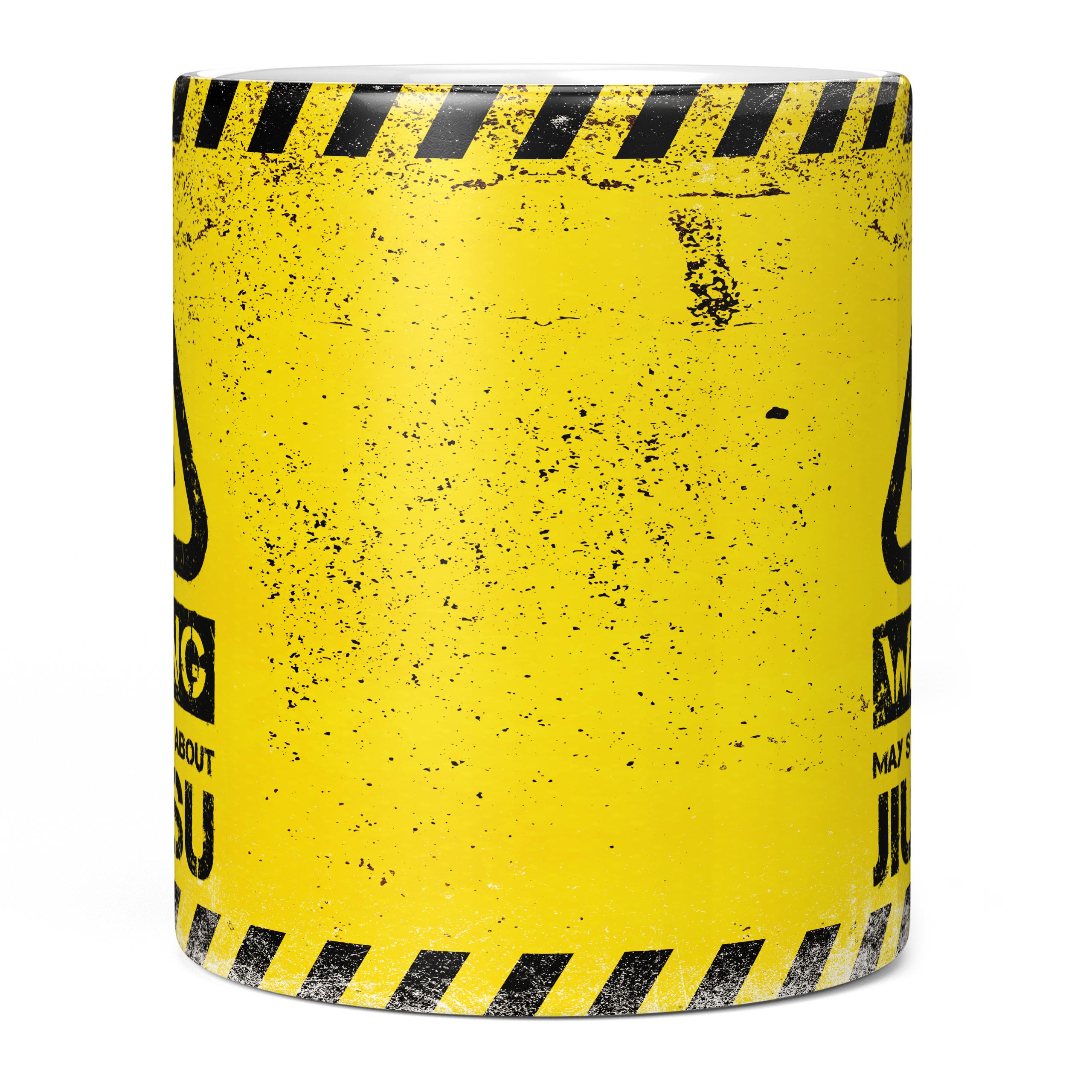 WARNING MAY START TALKING ABOUT JIU-JITSU 11oz NOVELTY MUG Mugs