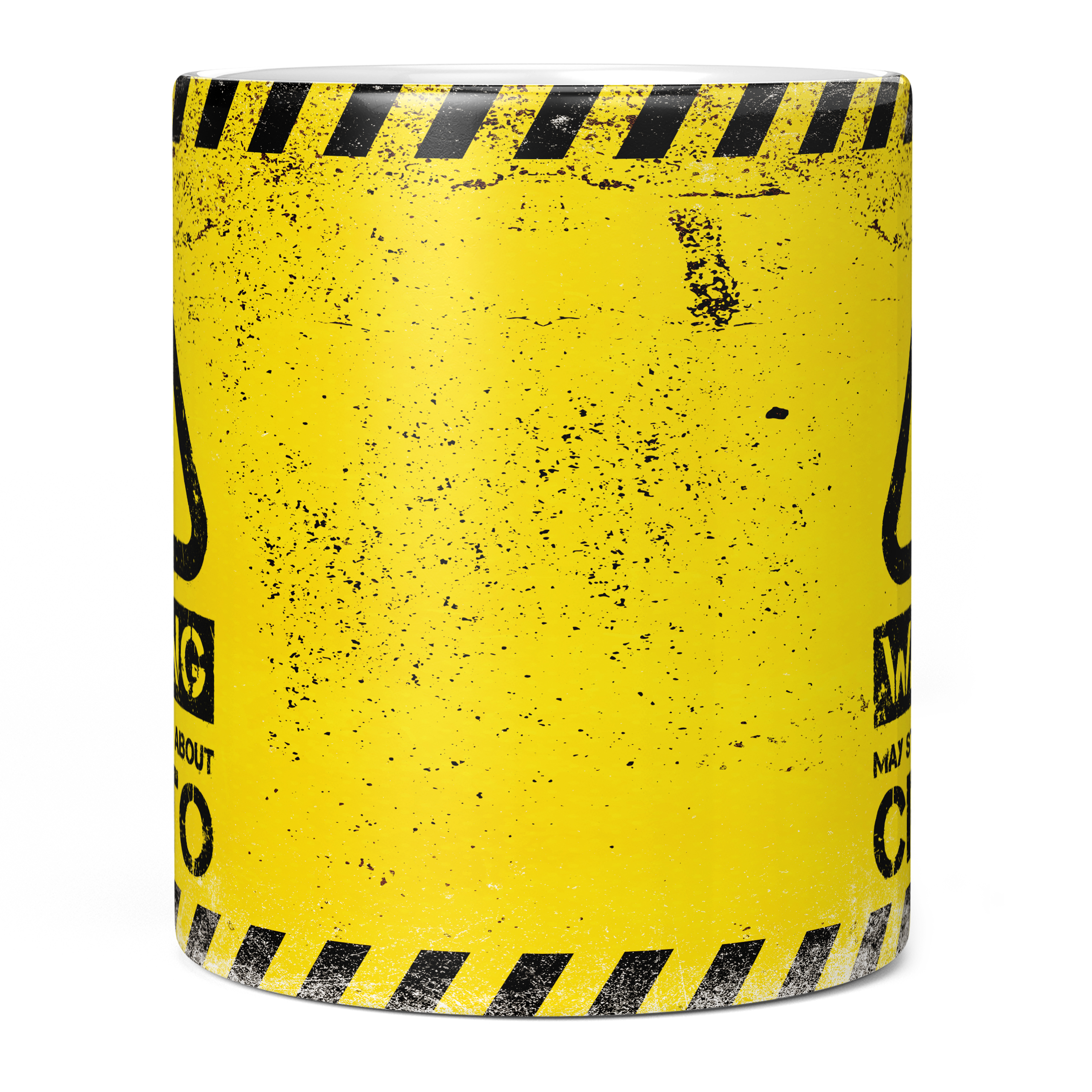 WARNING MAY START TALKING ABOUT CRYPTO 11oz NOVELTY MUG Mugs