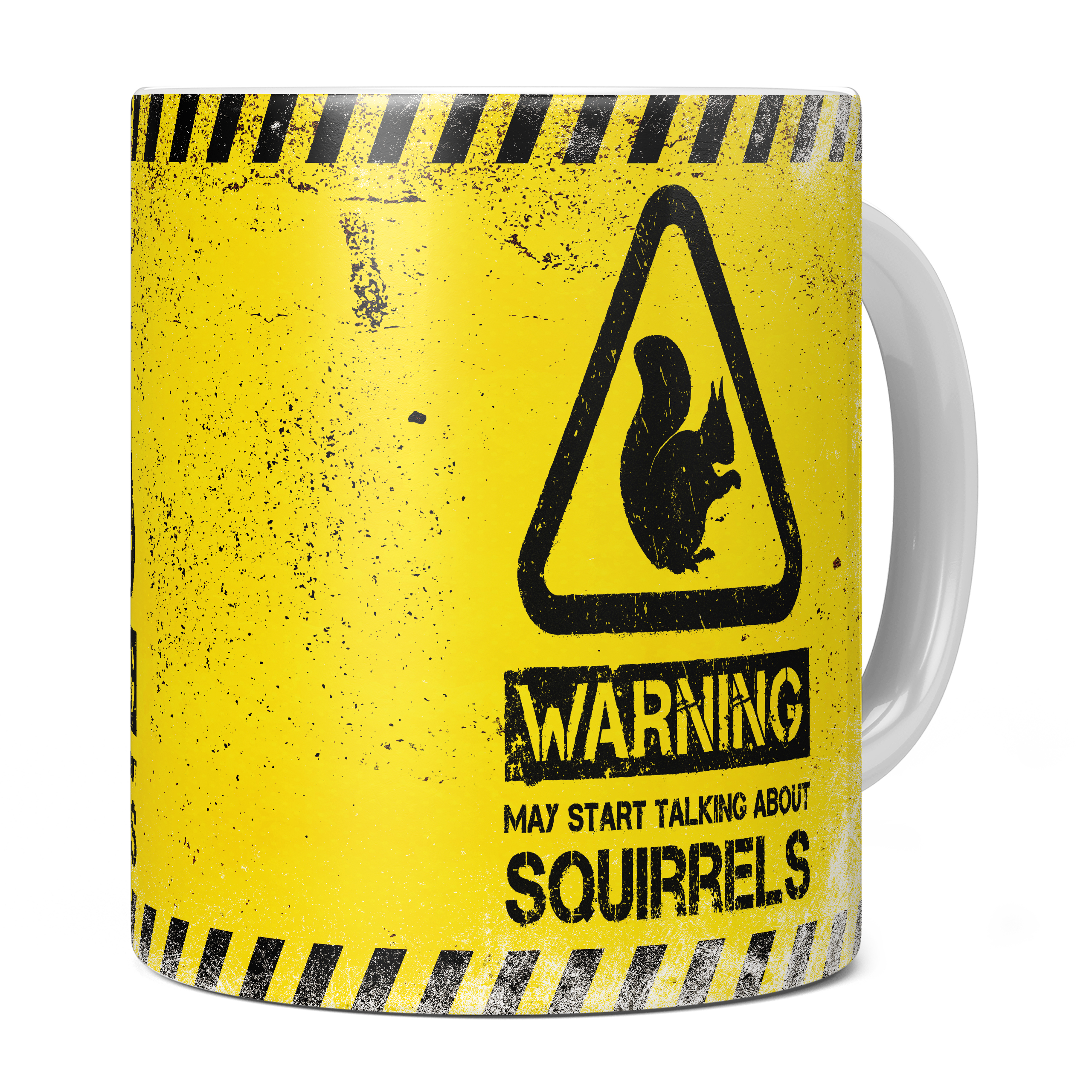 WARNING MAY START TALKING ABOUT SQUIRRELS 11oz NOVELTY MUG Mugs