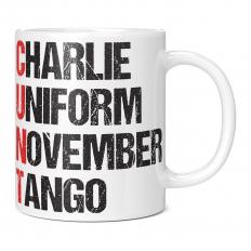 CHARLE UNIFORM NOVEMBER TANGO 11OZ NOVELTY MUG
