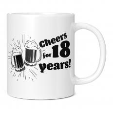 CHEERS FOR 18 YEARS 11OZ NOVELTY MUG