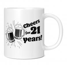 CHEERS FOR 21 YEARS 11OZ NOVELTY MUG