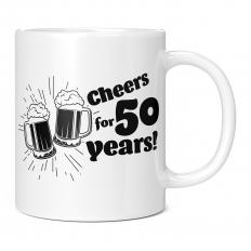 CHEERS FOR 50 YEARS 11OZ NOVELTY MUG