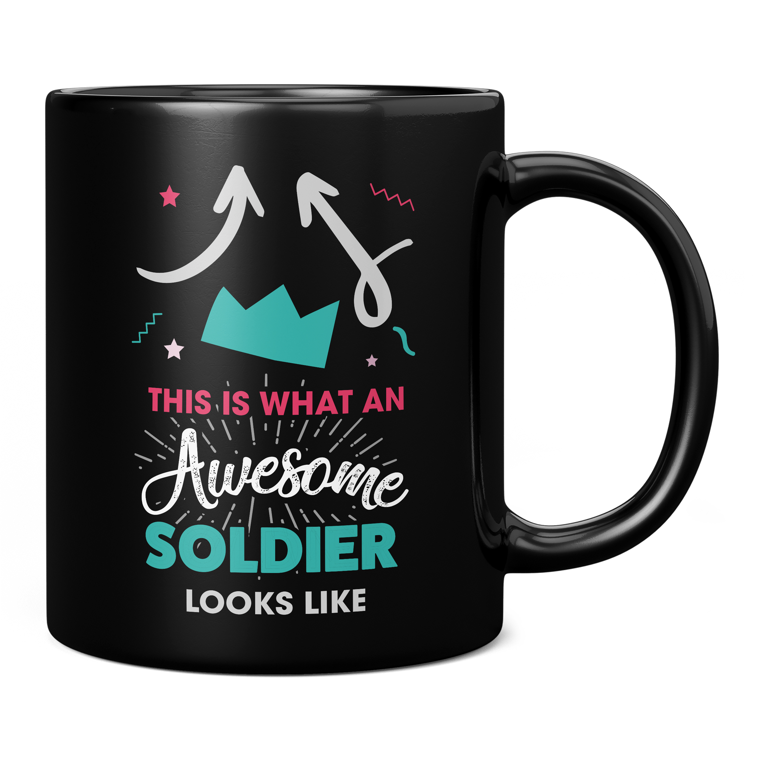 THIS IS WHAT AN AWESOME SOLDIER LOOKS LIKE 11OZ NOVELTY MUG