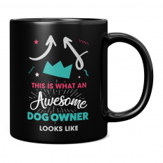 THIS IS WHAT AN AWESOME DOG OWNER LOOKS LIKE 11OZ NOVELTY MUG