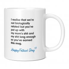 HAPPY FATHERS DAY STEPDAD WHITE 11OZ NOVELTY MUG